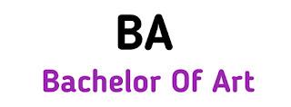 BA ka Full Form
