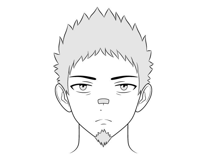 Gambar wajah pria preman anime