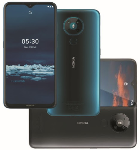 Nokia 5.3 Smartphone Specs: 6.55-Inch AI Quad-Camera Android One Phone - 4000mAh Battery, 64GB/6GB Memory, 4G Dual SIM, Fingerprint Security