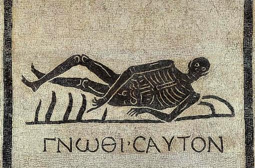 """Memento mori"", mosaico nel convento di San Gregorio a Roma"