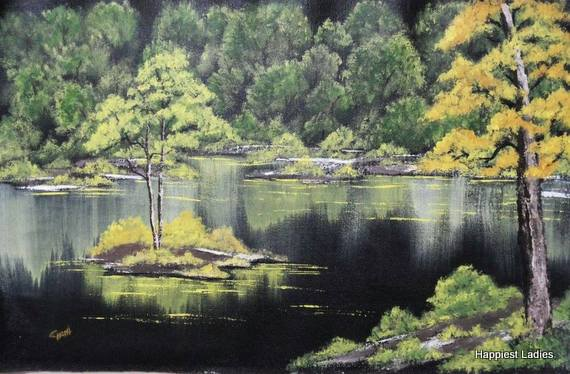 emerald water asy bobross painting