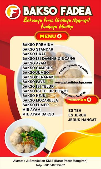 Iklan Banner Spanduk Bakso Soto