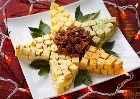 Festive cheese tray