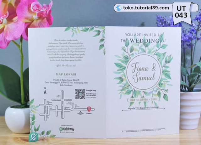 Undangan pernikahan UT043 - Seimpel Lipat 2 +free kartu ucapan terima kasih