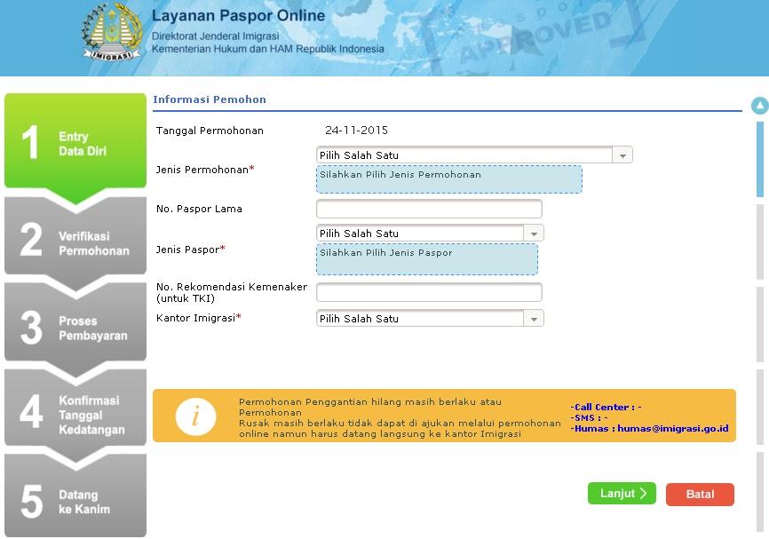 syarat pembuatan paspor/ persyaratan pembuatan paspor