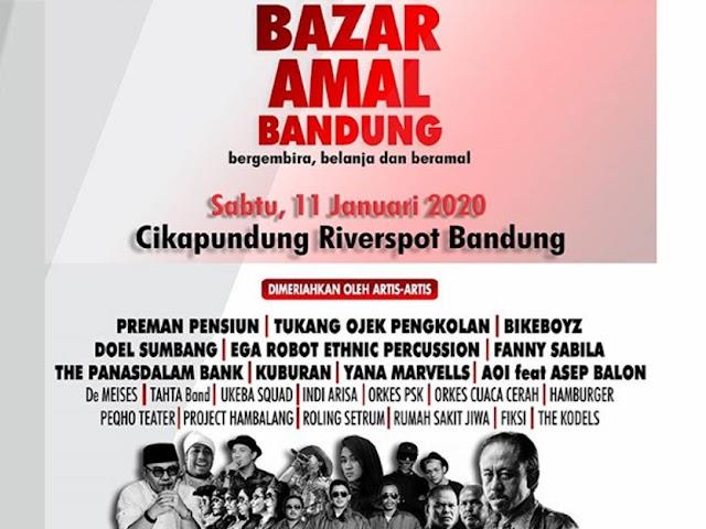 Preman Pensiun Bersama Seniman Bandung Bakal Gelar Bazar Amal 11 Januari 2020