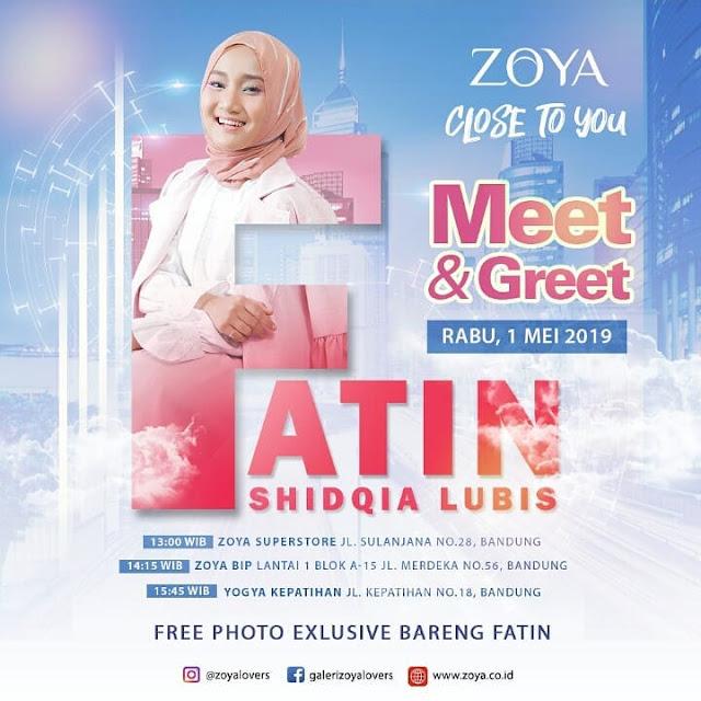 #Zoya - #Promo Event Meet & Greet Bersama Fatin di Bandung (01 Mei 2019)