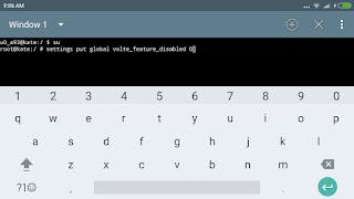 biasanya terjadi setelah Upgrade ke android Marshmellow Fix Volte Xiaomi redmi note 4X MIUI 8 MM & LL