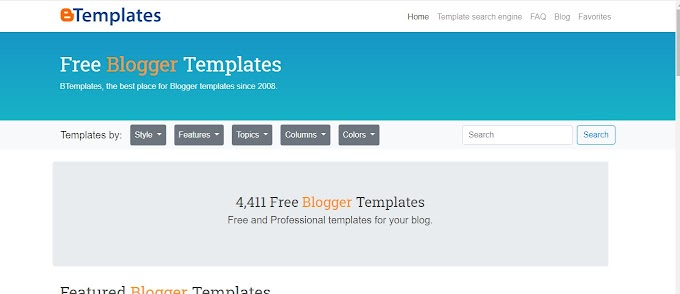 Blogger Template theme resource website, paid and free.