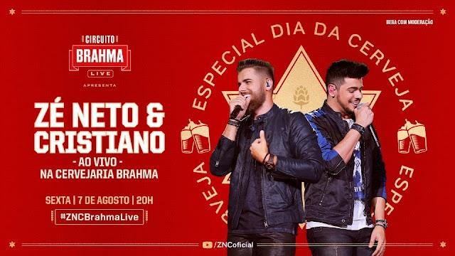Alô, Ambev': No Dia Internacional da Cerveja, Brahma e Zé Neto e Cristiano confirmam live dentro da cervejaria