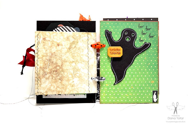 Dead Zone Halloween Mini Album Page 2 by Dana Tatar for Paper Wings Productions