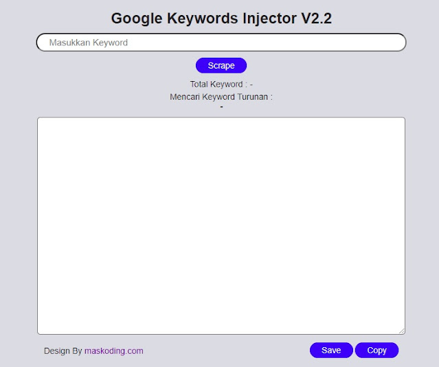 Update Google Keywords Injector v2.2