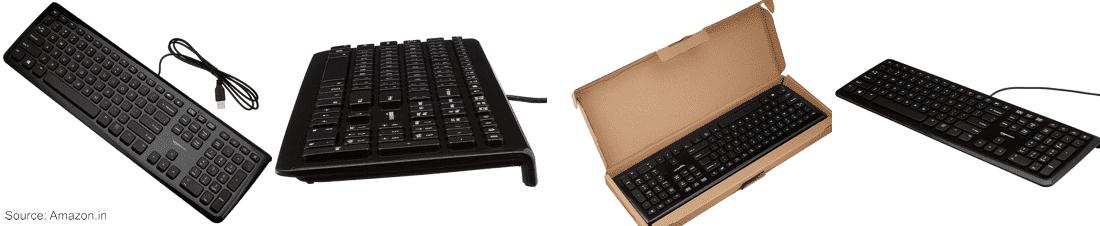 Image of the AmazonBasic (KU-0833) Black Wired
