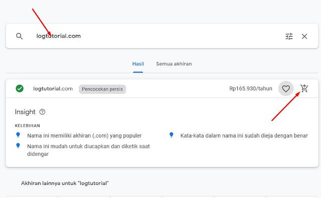 Cara Membeli Domain di Google