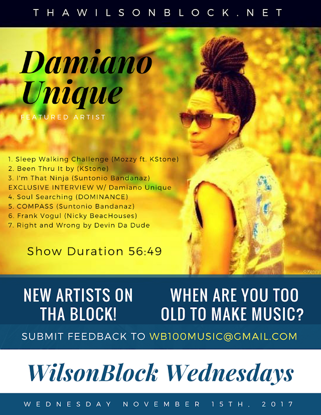 WilsonBlock Wednesdays featuring Damiano Unique (November 15th, 2017)
