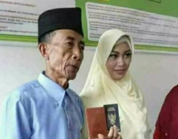 Kakek 56 Tahun Nikahi Gadis 17 Tahun Pakai Mahar 300 Ribu