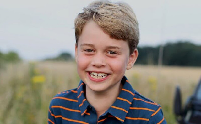 Prince George wore a new polo shirt from John Lewis. The photo was taken by the Duchess of Cambridge in Norfolk