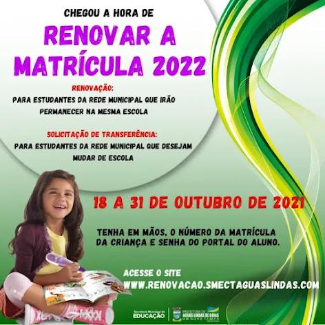 RENOVAÇAO DE MATRICULAS