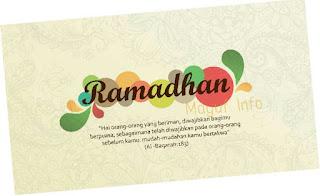Selamat Datang Bulan Ramadhan Tahun 2017 1438 H