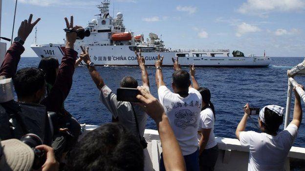 Chinese Coast Guards Panatag Shoal