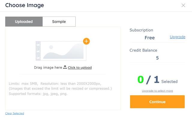 Choose Image in AI Image Enlarger