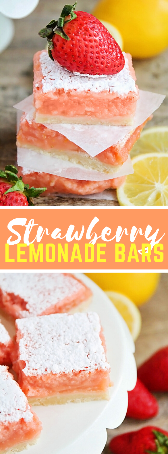 Strawberry Lemonade Bars #desserts #summerdessert