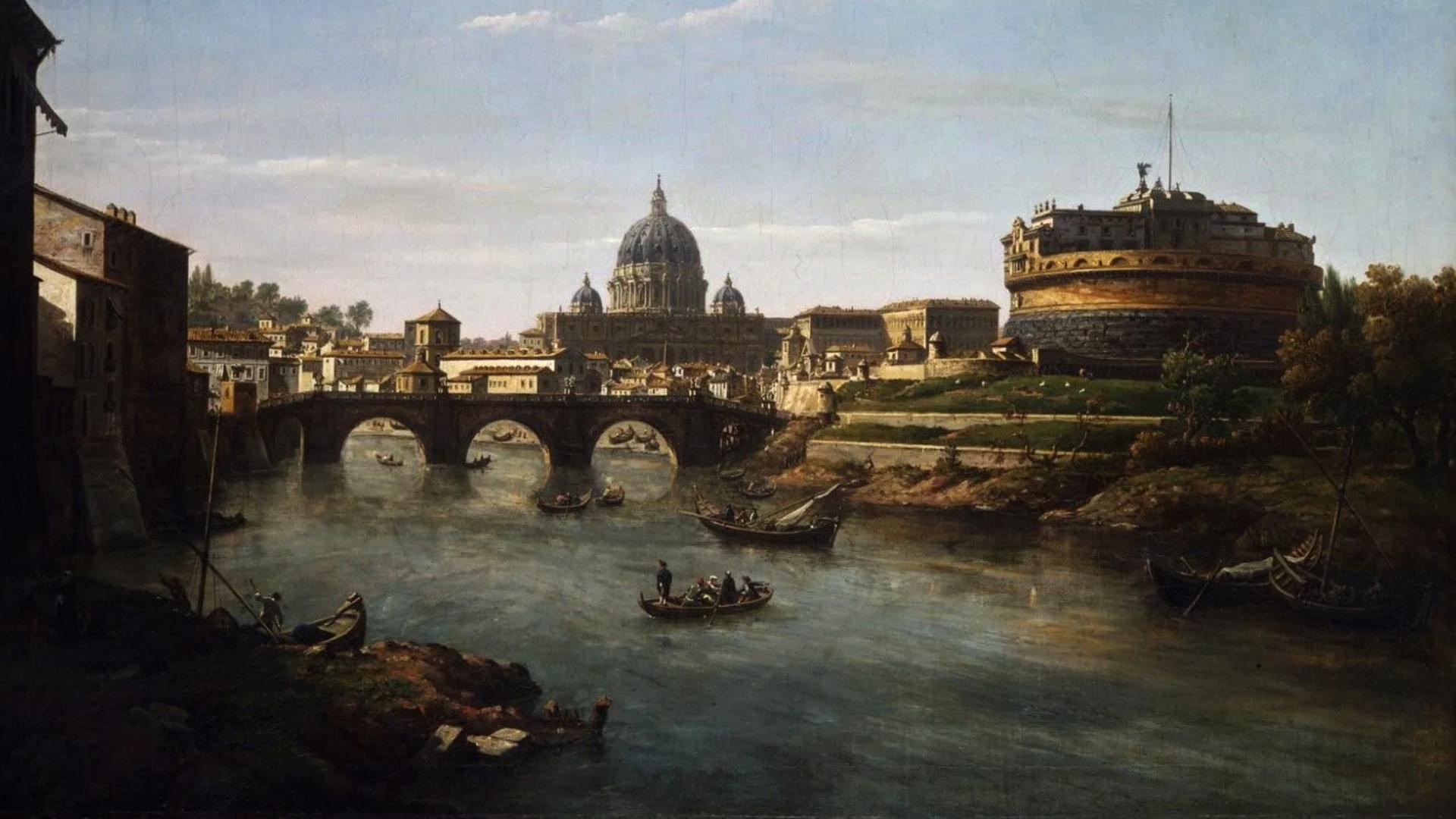 Vista de Roma pelo Tiber