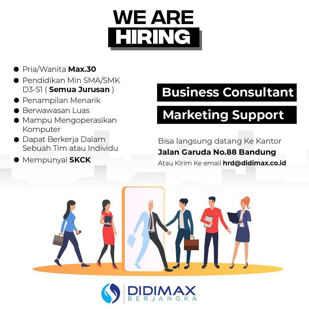 Lowongan Kerja Didimax Berjangka Bandung September 2019