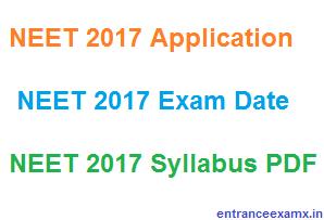 NEET 2017 Syllabus Pdf file