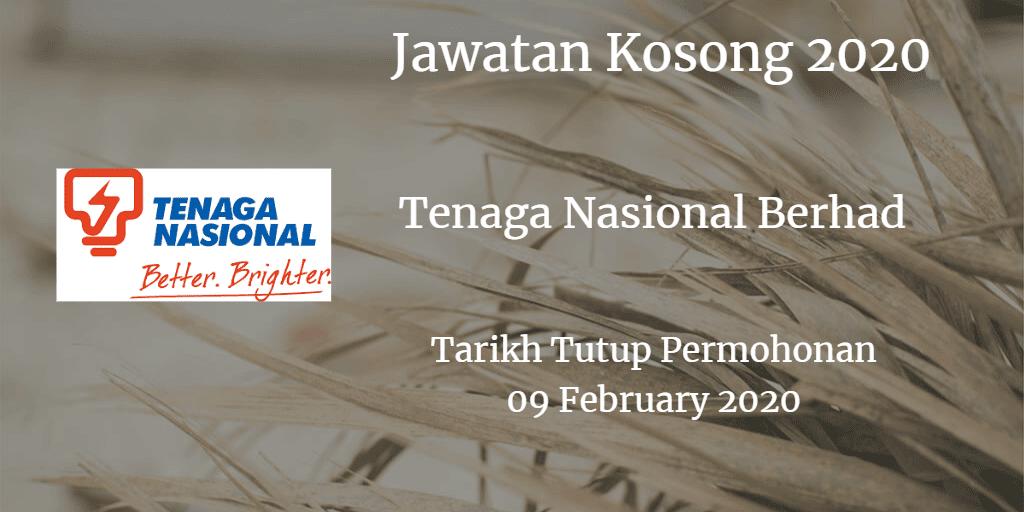 Jawatan Kosong TNB 09 Februari 2020