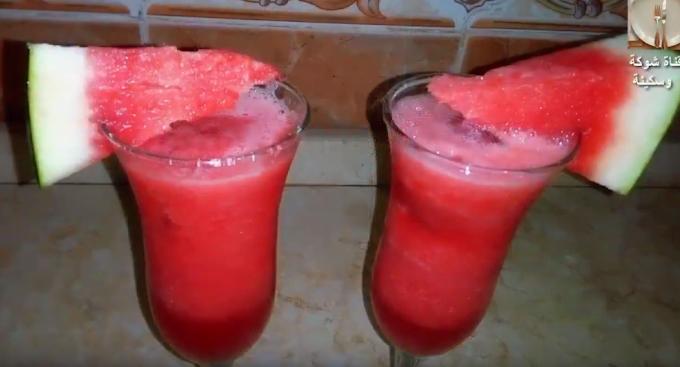 طريقة عمل عصير البطيخ