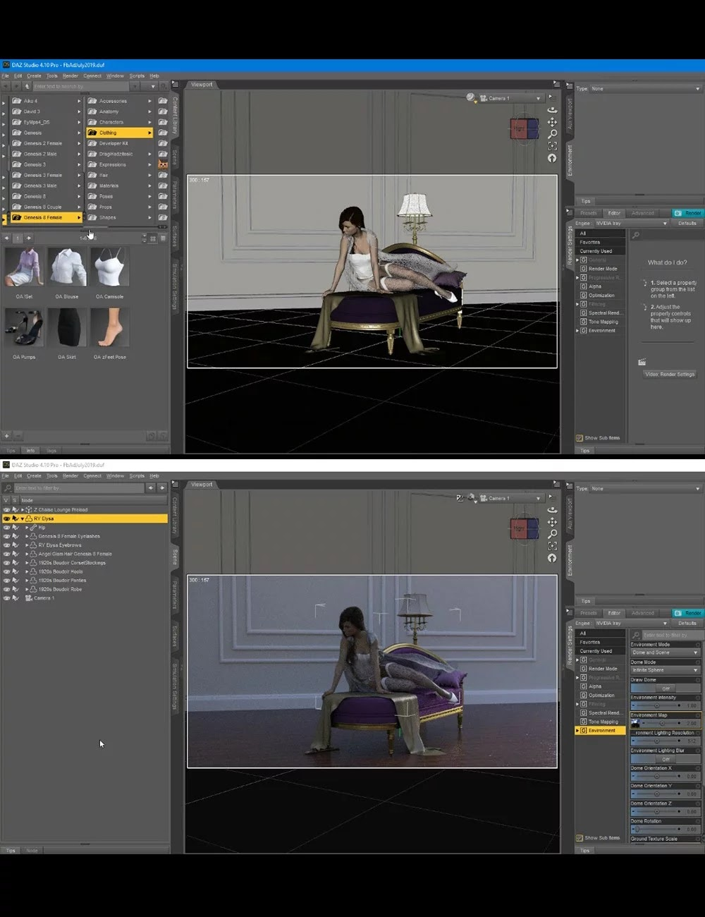 Download DAZ Studio 3 for FREE!: DAZ 3D - Girl On a Chair