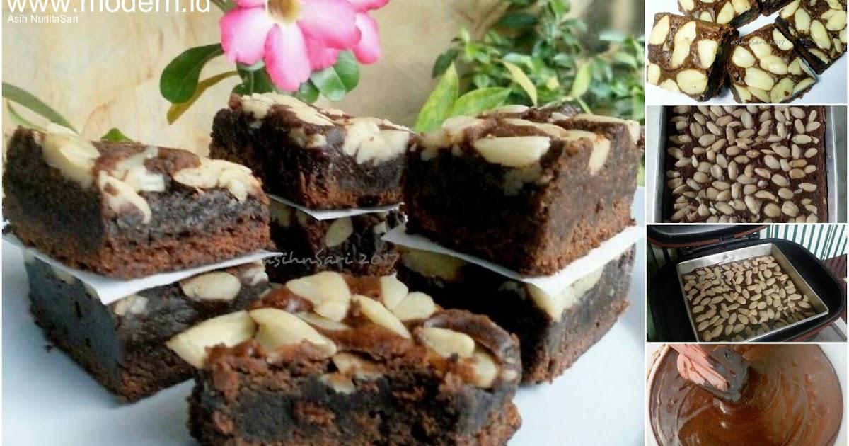 Resep Brownies Panggang Topping Kenari Full Cokelatnya