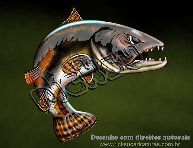 ilustrações para camisetas de pesca