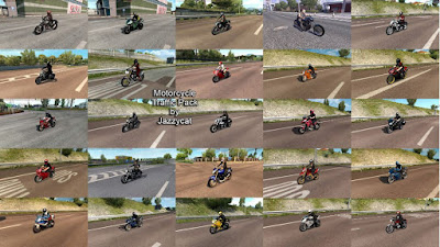 Motorcycle Traffic Pack by Jazzycat v3.2