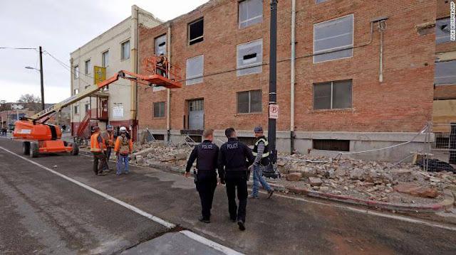 Utah's Salt Lake City earthquake effects.