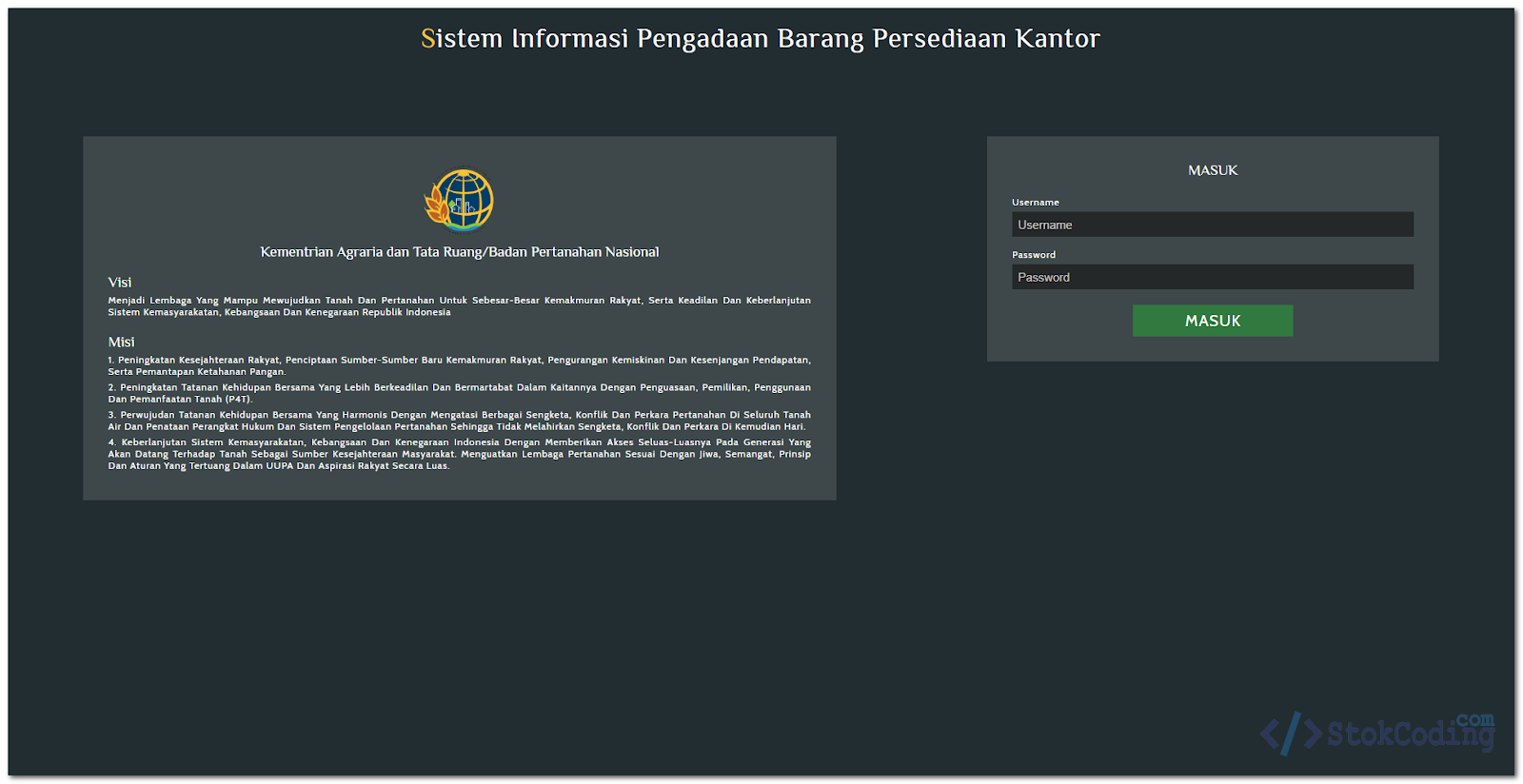 Sistem Informasi Pengadaan Barang Kantor (Codeigniter)