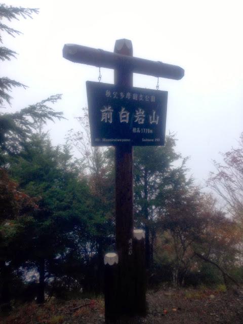 前白岩山は埼玉秩父の山