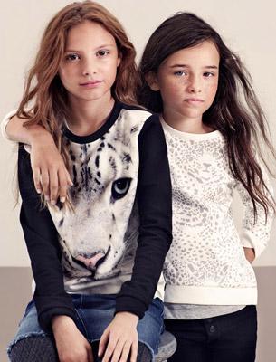 camisetas niñas animales colección H&M WWF