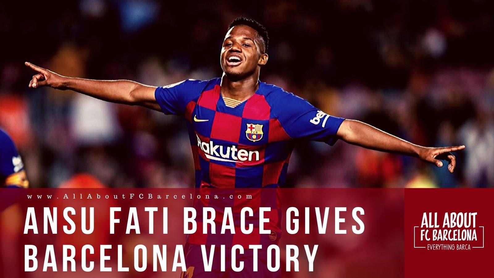Ansu Fati Brace Secures Barcelona an Essential Victory that inspires Hope #AnsuFati #FCBarcelona