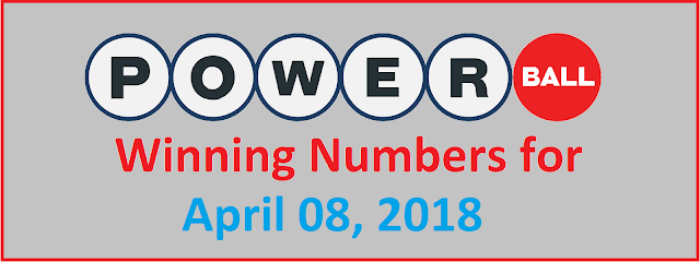 PowerBall Winning Numbers for Sunday, 08 April 2018