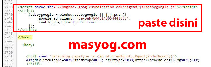 Cara Memasang Kode Iklan Google Adsense Di Blogspot Dari Awal Sampai Akhir Masyog Com