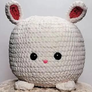 Reposa pies conejito a Crochet