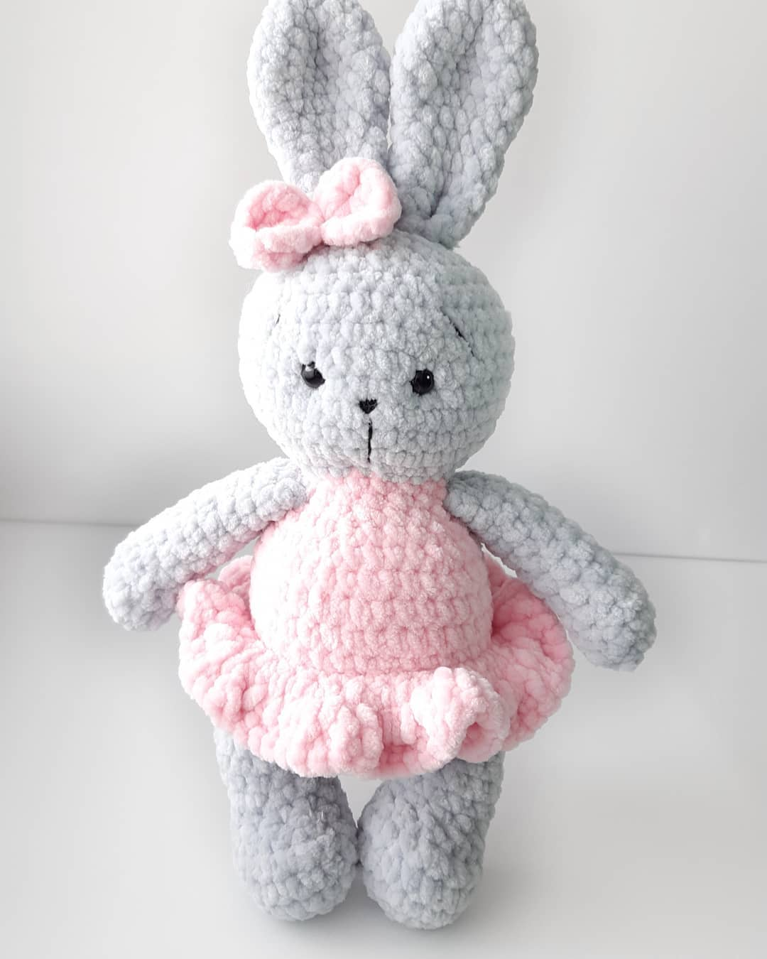 Crochet plush bunny free pattern