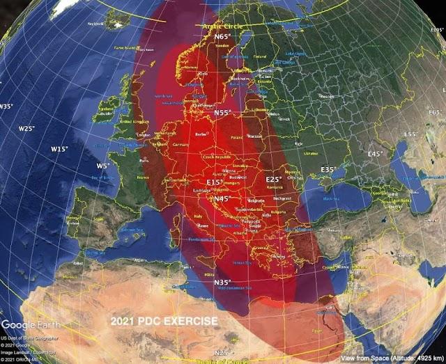 """Μεγάλο κομμάτι της Ευρώπης """"εξαφανίστηκε"""" στην τελευταία άσκηση προσομοίωσης αστεροειδών επιπτώσεων της NASA"""