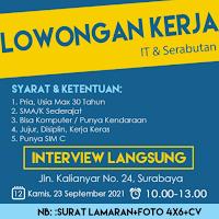 Walk In Interview di Bandung Computer Surabaya September 2021