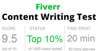 Fiverr Content Writing Test Answers 2021 - Content Writing Skills Test Fiverr