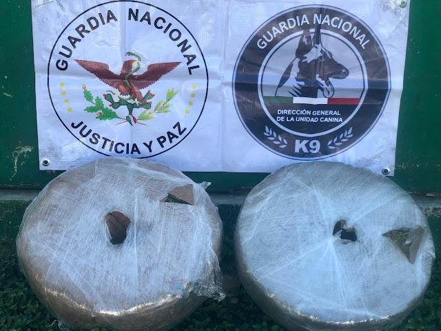GUARDIAS NACIONALES LOCALIZAN ENVOLTORIOS DE APARENTE MARIHUANA EN CARRETES DE LAZO