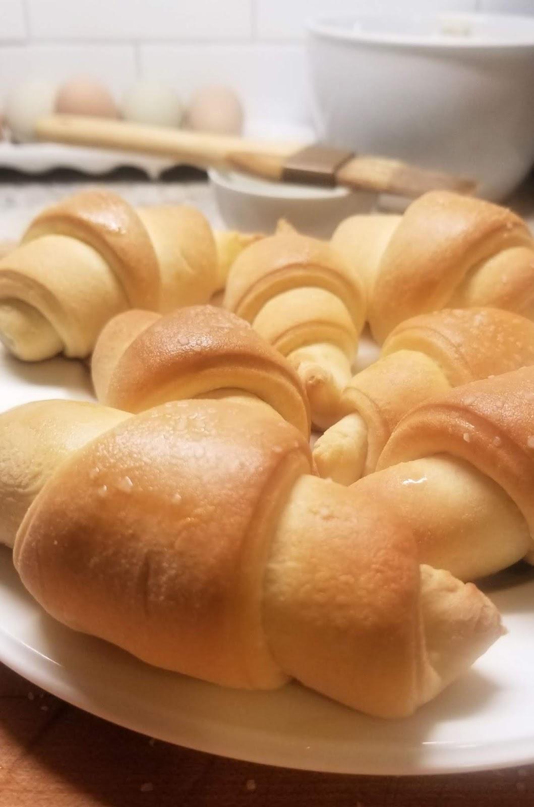 Buttery Homemade Crescent Rolls