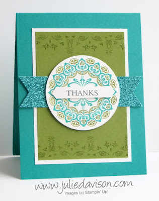 Stampin' Up! 2017 Sale-a-Bration Make a Medallion Thank You Card #sab2017 #stampinup www.juliedavison.com
